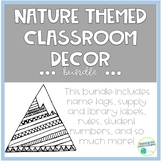 Nature Theme Classroom Decor Growing Bundle