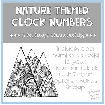 Nature Theme Clock Numbers