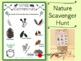 Nature Theme Scavenger Hunt Sheet Set