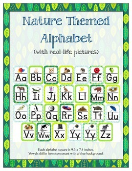 Nature Themed ABC Printables (w/ real pictures)