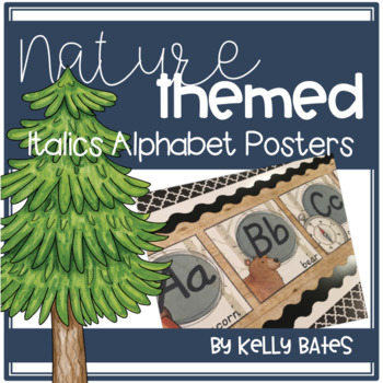 Nature Themed Alphabet Posters (Italics Font)