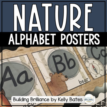 Nature Themed Alphabet Posters (Print Font)