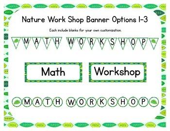 Nature Themed Classroom Small Group Math Center/ Workshop Setup