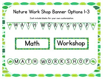 Nature Themed Classroom Small Group Math Center/ Workshop Setup