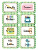 Nature Themed Classroom Supply Tags