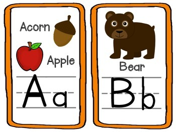 Nature Themed Classroom Wall Alphabet With the Numbers 1-10