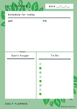 Nature Themed Daily Planner