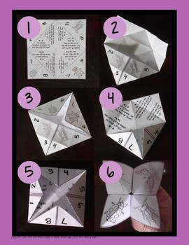 Nature Themed Cootie Catcher! FREEBIE