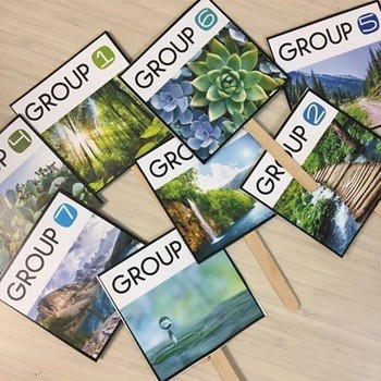 Nature Themed Group Numbers: Extreme Makeover Classroom Edition