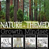 Nature Themed Growth Mindset Posters: Wilderness, Woodland, Rustic Decor