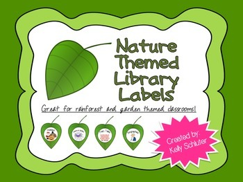 Nature Themed Library Labels