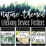 Nature-Themed Literary Device Posters, Transcendentalism,