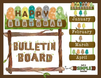 Nature Themed Log and Mushroom Birthday Chart