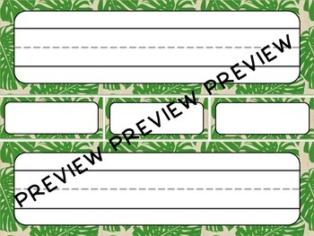 Nature Themed Name Plates, Name Tags, and Labels - Printable