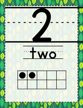 Nature Themed Number Posters 1-20