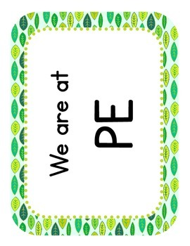 "Nature Themed ""Where We Are"" Cards"