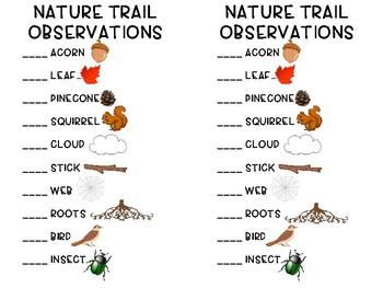 Nature Trail Checklist