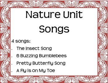 Nature Unit Interactive Song Pack