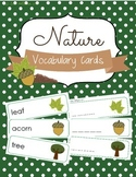 Nature Vocabulary Cards and Spelling Practice