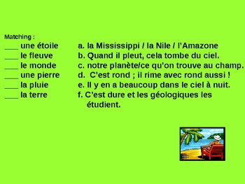 Nature Vocabulary Interactive Games Bien Dit 2 ® Ch7