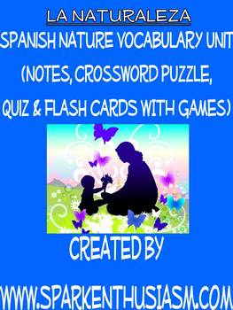 Nature Vocabulary Lists, Activities, Crossword, Games, & Quiz Unit