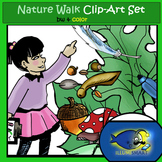 """""""Nature Walk"""" 32 pc. Clip-Art Set ( 16 BW and  16 Color)"""