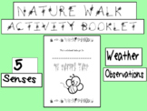 Nature Walk Activity Notebook - 5 senses, weather, observa
