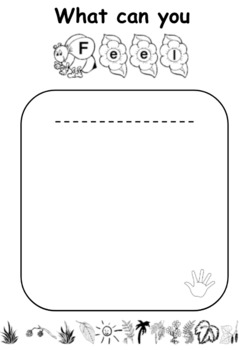 Nature Walk Activity Notebook - 5 senses, weather, observations, colours