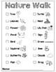 Nature Walk Checklist