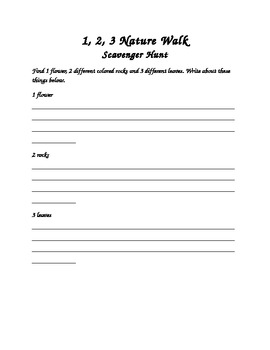 Nature Walk Graphic Organizer 1