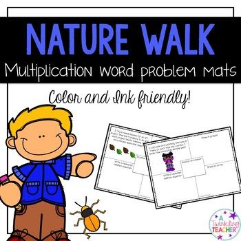 Nature Walk Multiplication Word Problem Mats