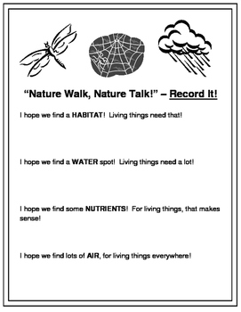 """Nature Walk, Nature Talk"" -- Take Your Science Outside!"