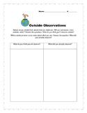 Nature Walk Observations Chart