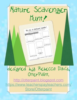 Nature Walk Scavenger Hunt Art Activity
