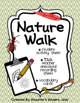 Nature Walk - TSG Science - Activity Sheet, Anecdotal Records & Vocab Cards