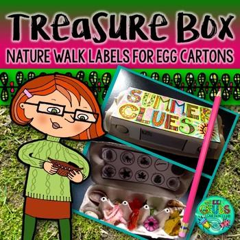 Nature Walk Treasure Box Labels {Recycle egg cartons!}