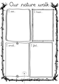 nature walk worksheet by eduflip teachers pay teachers. Black Bedroom Furniture Sets. Home Design Ideas