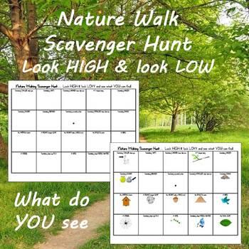 Nature Walking Scavenger Hunt