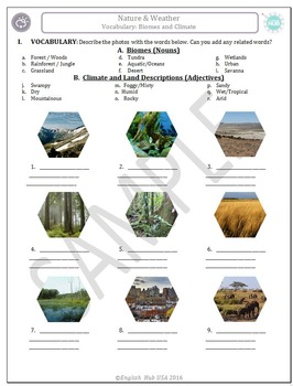 Nature & Weather(B): Biomes, Climate, & Landforms  (Adult ESL)
