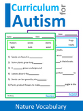 Nature Wildlife Facts Fill In The Blanks Autism Reading Literacy ESL
