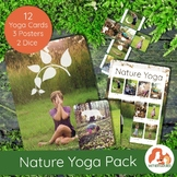 Nature Yoga Cards with REAL children