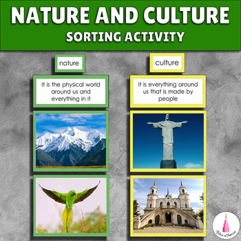 Nature and Culture Sorting Cards