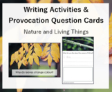 Writing Activities + Provocation Question Cards - Living T