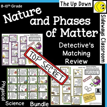 Nature and Phases of Matter Detective's Matching Review Bundle