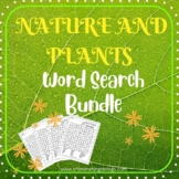 Nature and Plants Word Search Bundle | 9 Printable Puzzle
