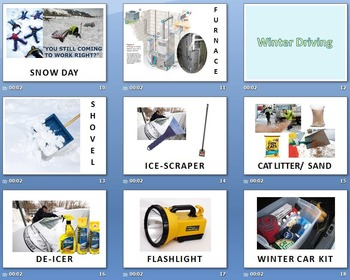 Nature and Weather A: Winter Weather & Preparedness Vocabulary Review SLIDESHOW