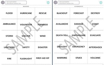 Nature and Weather (C): Natural Disasters Vocabulary Cards