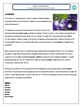 Nature and Weather (C): Natural disaster reading jigsaw (inter + adv)