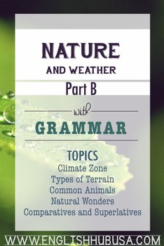 Nature & Weather (Unit B Packet): Winter Weather and Preparation  (Adult ESL)