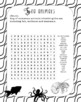 Nature colouring book and word search